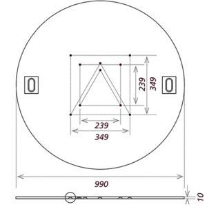 Базовая опорная плита_PLB-TOTEM_чертеж