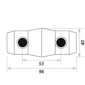 Коннектор (втулка) CS3-CON чертеж