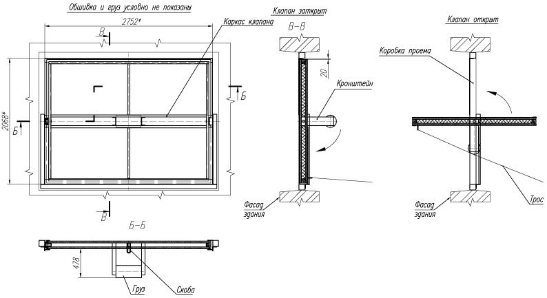 дымовой люк (схема)