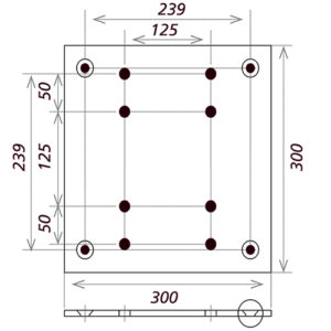 Малая опорная плита_PLB-MH-S_чертеж