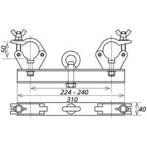 Подвесная HD_FD3X Траверса с хомутами_ DCB3-PF_чертеж