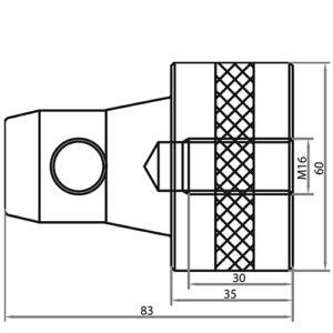 Полуконнектор CS1-Scon25 чертеж