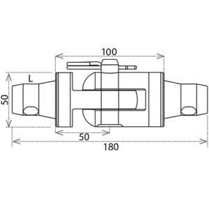 Шарнирный комплект CS1-HS L_R_чертеж_1