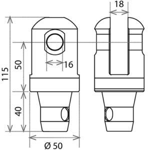 Шарнирный комплект CS1-HS L_R_чертеж_5