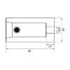 Выступ для соединения 85  мм_CS3-BOB85_ТТ_чертеж