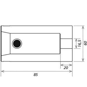 Выступ-для-соединения-85--мм_CS3-BOB85_чертеж