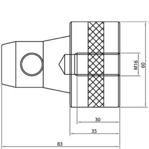 Выступ для соединения М12 CS3-Scon35 чертеж
